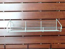 "Royston 6""X17"" Slat Wall Cream Wire Baskets"