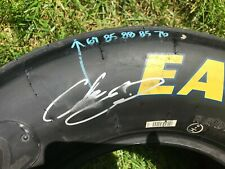 Chase Elliott signed race used tire JRM