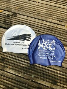 Speedo Adult Swim Cap Silicone Swimming Pool Hat Flat New British Gas 2011 ltd
