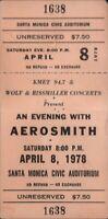 AEROSMITH 1978 EXPRESS TOUR SANTA MONICA CIVIC AUDITORIUM UNUSED CONCERT TICKET