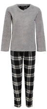 Buccini Boys Super Soft Luxury Lounge Pyjama Set 100 Polyester Micro Fleece 13 Years (loc.b49) Grey