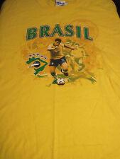 XL yellow BRASIL SOCCER t-shirt by GILDAN