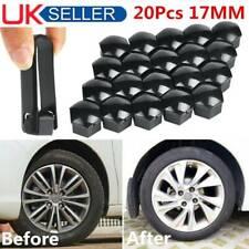 20 Pack Black Wheel Nut Caps Bolt Covers For Audi VW Vauxhall Bmw Mercedes 17mm