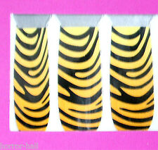 Diva Rave NAIL ART POLISH DECALS STICKERS Rockabilly Cosplay Costume~TIGER ZEBRA