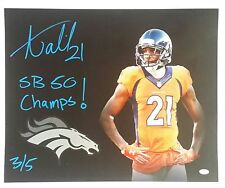 Aqib Talib Signed Autographed 16x20 Canvas Denver Broncos 3 of 5 JSA