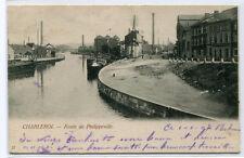 Route de Philippeville Charleroi Belgium 1907 postcard