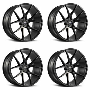 "19"" SAVINI BM14 BLACK CONCAVE WHEELS RIMS FITS INFINITI G37 G37S COUPE"