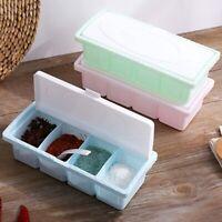1SET Seasoning Box Acrylic Spice Rack Storage Container Condiment Great Lizzj