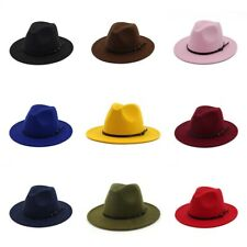 Brim Jazz Felt Women Men Hats & Cowboy Panama Hat Outback Wide Fedora