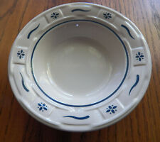 2 Longaberger Classic Blue Woven Traditions 6 Inch Fruit Dessert Bowls Usa