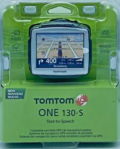 "2008 TomTom ONE 130 S Text-to-Speech 3.5"" Touchscreen Preloaded 3D Maps Car GPS"