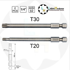 Screwdriver Bit Set Long Torx Security S2 2pcs T20 / T30 x 100mm Yato YT-0492