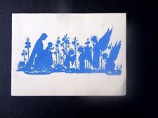 Custom Printed Christms Card, Angels & Mary & Baby, Boston Sh520 on back, toning