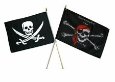 "12x18 12""x18"" Wholesale Combo Pirate Calico Jack & Surrender Booty Stick Flag"