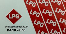 LPG Stickers x50 BULK PACK  --Reflective Red LPG Number Plate Stickers--