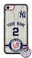 NEW YORK YANKEES PHONE CASE COVER FOR iPHONE SAMSUNG LG MOTO etc WITH NAME & #