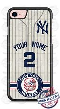 NEW YORK YANKEES PHONE CASE COVER FOR iPHONE SAMSUNG LG HTC etc WITH NAME & NO.