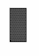 Decorative Garden Metal Fence Screen 'eye design' Laser, 1800x900, Corten Steel