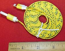 Yellow Braided 6FT Charging Cable for IPhone 5, 5S, 6, or 6+..Buy It Now Special