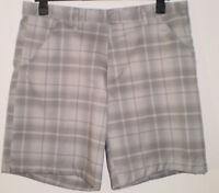 🎀  Dunlop Sports Grey Tartan Summer Holiday Beach Golf Cruise Shorts W40 🎀