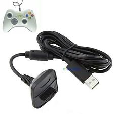 USB Charger Cable Lead For Microsoft Xbox 360 Wireless Controller Gamepad New XW