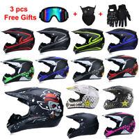 Off Road Motorcycle Helmet ATV Dirt Bike MTB Racing Motocross Capacetes+3PC Gift