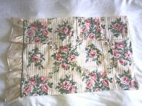 VTG JESSICA MCCLINTOCK*COTTAGE FLORAL SHABBY CHIC LACE RUFFLED BED PILLOW CASE