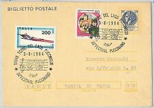 ITALY -  POSTAL HISTORY -  STATIONERY CARD with nice postmark - MUSIC: PUCCINI