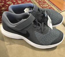 Nwt Kids Size 2Y Grey Nike Revolution 4 Alternative Strap Closure Tennis Shoes