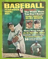 1966 Baseball Yearbook Sandy Koufax Dodgers Magazine