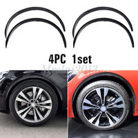 "4x 28.7"" Carbon Fiber Car Wheel Eyebrow Arch Trim Lips Fender Flares Protector"