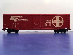 "Santa Fe ATSF 12079  ""Shock Control"" Freight Train Box Car HO Scale / 50'. 1/2"