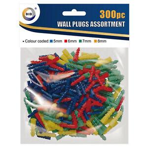 Free UK Postage WP0610 1000 6mm Linic Fixing Masonary Plastic Wall Plugs.