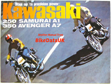 Kawasaki A1 250 Samurai A7 350 Avenger H1 500 (1969-1971) Factory Shop Manual