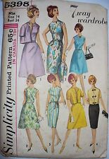Rare Simplicity 5398 Ladies 7 Way Wardrobe dress & jacket sewing pattern sz14