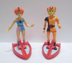 Vintage Thundercats Wilykit & Wilykat Figures - 1986 Toy LJN Wily Kit Wily Kat