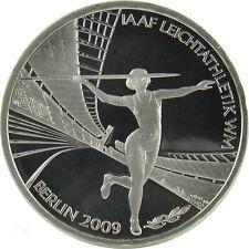 *** 10 Euro DEUTSCHLAND 2009 Leichtathletik WM D PP Polierte Platte Silber ***