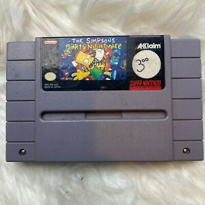Simpsons Barts Nightmare (Super Nintendo, 1992) SNES Authentic [TESTED WORKING]