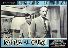CINEMA-fotobusta RAPINA AL CAIRO g. sanders, WOLF RILLA