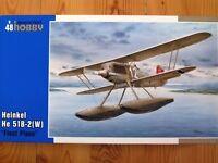 Special Hobby 1:48 Heinkel He 51B-2(W) Float Plane Aircraft Model Kit