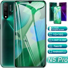 "6.3"" Smart phone N5PRO Android Dual-SIM 4 Core 1+16G Face Fingerprint Unlocked"