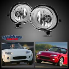 Fit Mazda MX-5 06-15 Clear Lens Pair Bumper Fog Light Lamp OE Replacement DOT