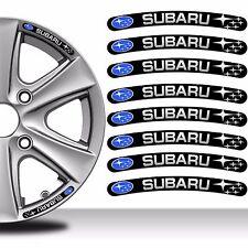 8 x SUBARU WHEEL RIM VINYL STICKERS DECALS AUTO MOTO CAR TYRE EMBLEM TUNING C101
