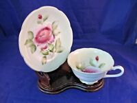 ANTIQUE TEA CUP AND SAUCER W CROSSED ARROWS MAKERS MARK - VERY ELEGANT!