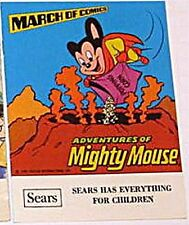 March Of Comics 471 Adventures Mighty Mouse Vfnm Rare Giveaway Promo Promotional