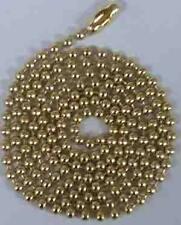 "500 Ball Chains Brass finish 24"" Ballchain #3 necklace"