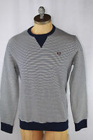AUTH Fred Perry Men's Stripe Crewneck Sweatshirt