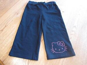 Girls Hello Kitty black pants Capri 4 HK Spring Active HK55301 NWT youth ^^