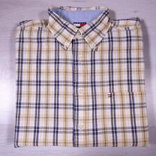 Mens TOMMY HILFIGER Blue Check Vintage Designer Shirt XL #A3388
