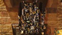 NWT Jessica Simpson Womens Junior Lace Shirt Top Blouse Size Small Black Pretty!